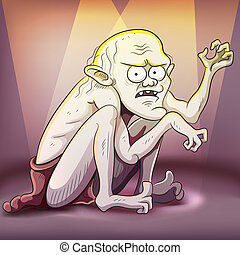 cartoon illustration of creepy creature for your halloween picture. This file EPS 10 version