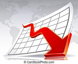 Vector illustration - Business crisis diagram