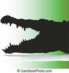 crocodile vector silhouettes