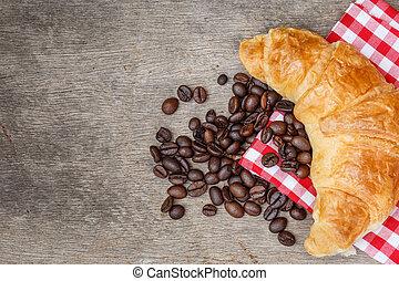 Croissant Bread coffee bean