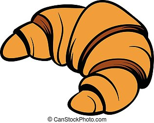 Croissant icon cartoon
