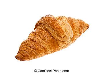 croissant, white background.
