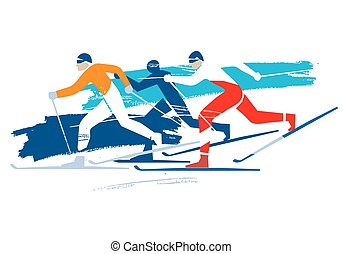 Cross Country Skiers.