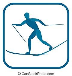 Cross country skiing.