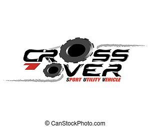Crossover concept for logo design vector