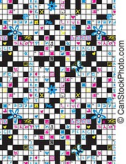 Crossword repeat pattern.