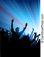Party corwd of people! Vector illustration