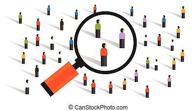 crowd behaviors measuring social sampling statistics experiment population research of society vector