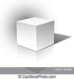 Cube on a white background. Vector illustration