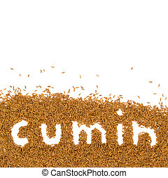 Abstract background made of cumin with text and white space
