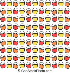 Cupcakes wallpaper, illustration, vector on white background.