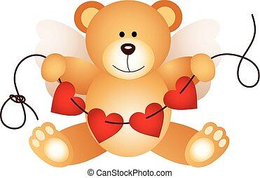 Cupid teddy bear