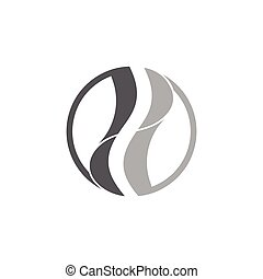 curves circle geometric logo vector