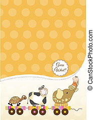 customizable baby card