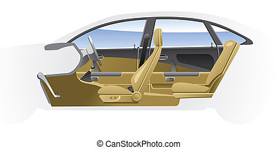 Cutaway Car Illustrations.
