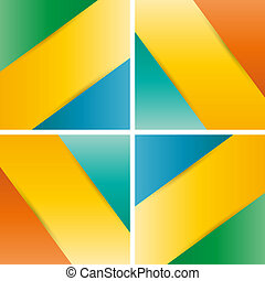Cut-out paper design
