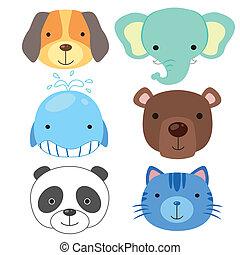 cute animal head icon02