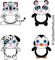 Cute animals set 02