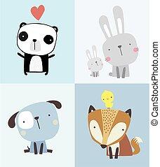 cute baby animals set.eps