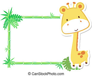 cute baby giraffe frame