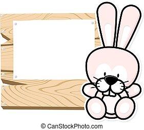 cute baby rabbit frame