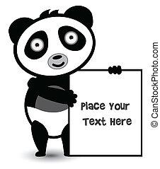 cute bear panda banner