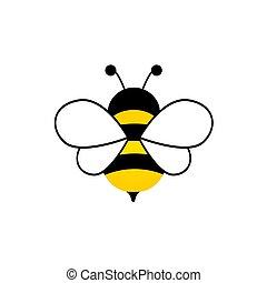 Cute bee character.