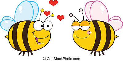 Cute Bee Looking Female Bee Illustration