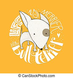 Cute Bull Terrier puppy design