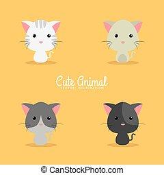 Cute Cartoon cats