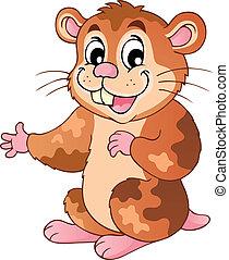 Cute cartoon hamster