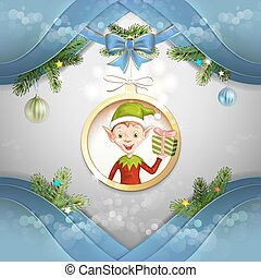 Cute cartoon of a Christmas elf