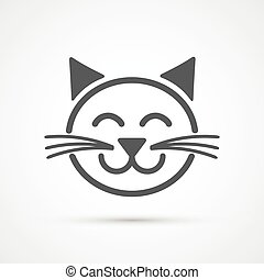 Cat icon . Vector element for your design