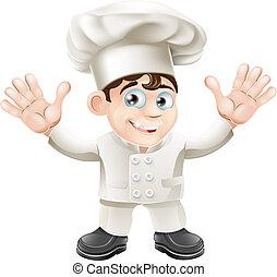 Cute chef mascot character