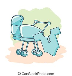 cute clothes with baby cart