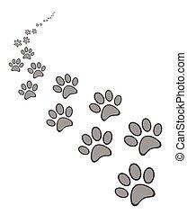 Cute dog or cat paw print
