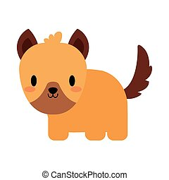 cute dog puppy kawaii, flat style icon