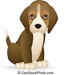 cute dog vector