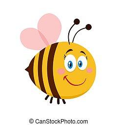 Cute Female Bee Cartoon Character