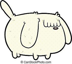 cute funny cartoon dog