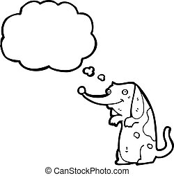 cute funny little dog cartoon