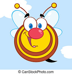 Cute Honey Bee Cartoon Character