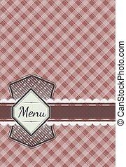 Cute menu card design