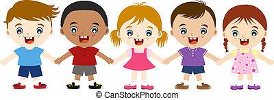 cute multicultural children