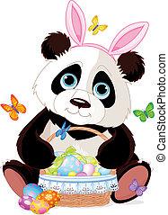 Cute Panda with Easter basket