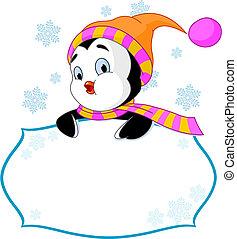 Cute Penguin Invite & Place Card