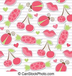 cute pink seamless pattern