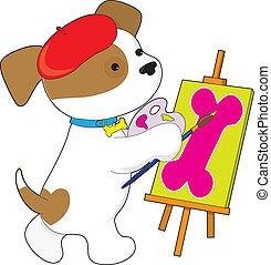 Cute Puppy Artist