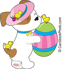 Cute Puppy Easter Egg