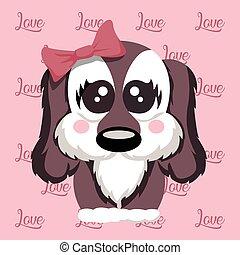 Cute puppy love puppy design